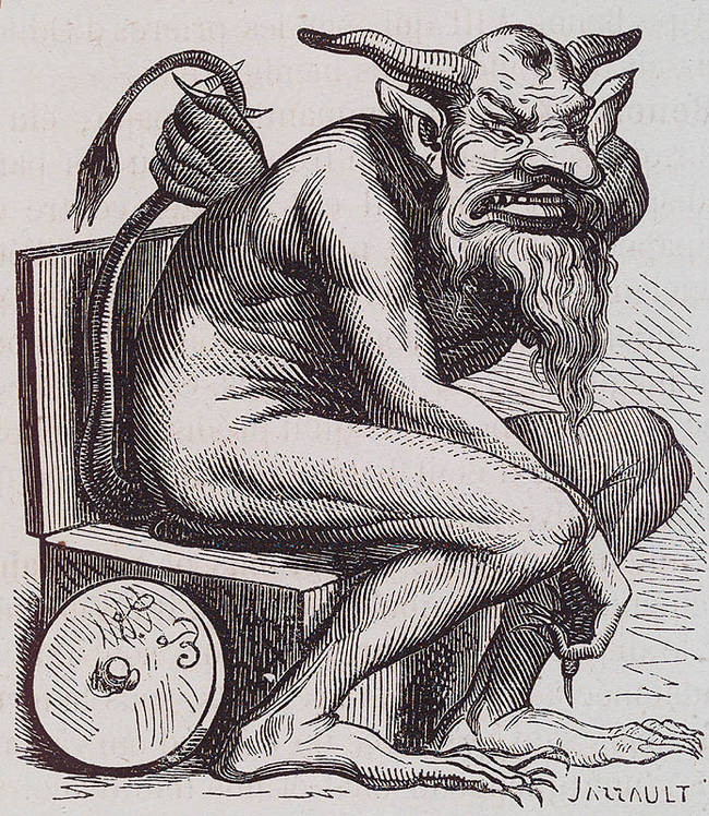 The Christian demon, Belphegor, is one of the seven princes of hell is often associated with orgies and general debauchery. His favorite number is 1000000000000066600000000000001 and he is Hell's ambassador to France, oddly enough.